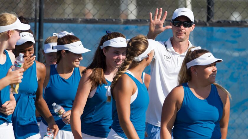 Corona del Mar High coach Jamie Gresh leads his girls' tennis team into the CIF Southern Section Division 1 playoffs as the No. 1 seed.