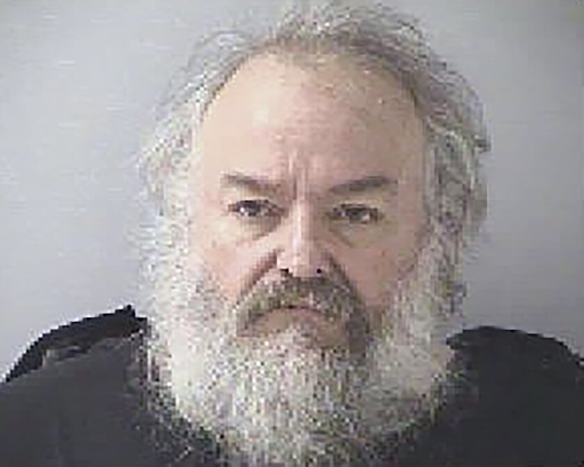 This undated photo provided by the Butler County Jail shows Daniel French. The Berea, Ky., man posed as a repairman to get into the Monroe, Ohio home of Barbara Howe, 87, then shocked her with a stun gun, choked her and cut her throat, a prosecutor said Thursday, Oct. 22, 2015 in the opening statements at French's murder trial. (Butler County Jail via AP)