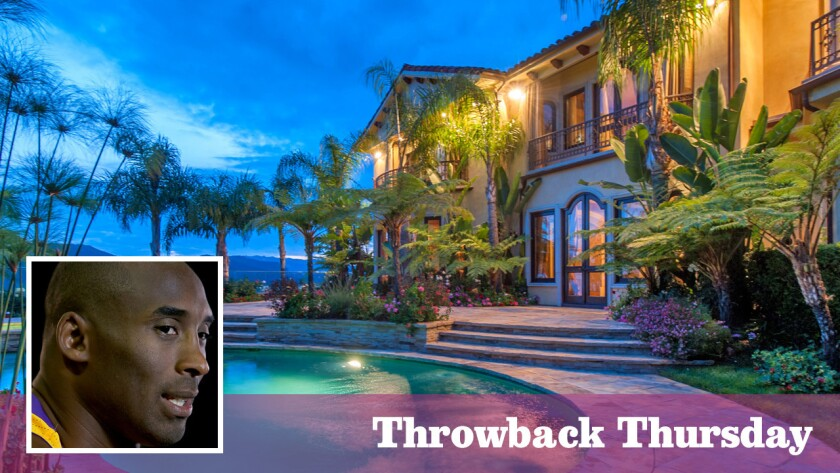 The Mediterranean-style home, listed for $12.88 million, was owned by Kobe Bryant during his early years with the Lakers.