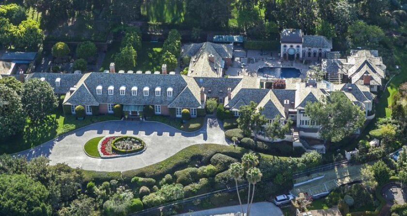 The Fox Hill estate overlooks La Jolla Country Club.