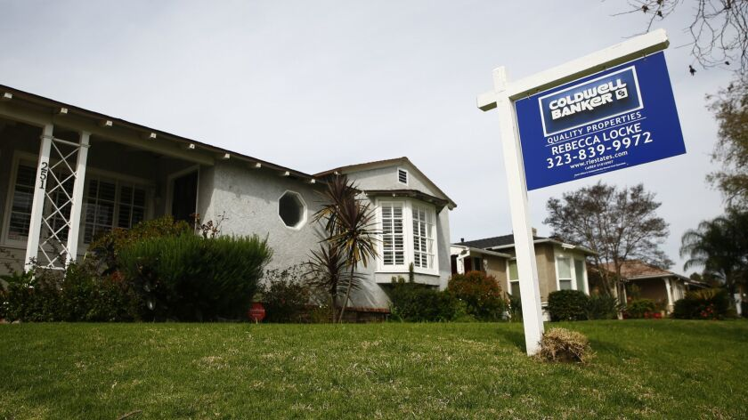 BURBANK, CALIF. - MARCH 26: A home for sale along Mariposa street, on Tuesday, March 26, 2019 in Bur