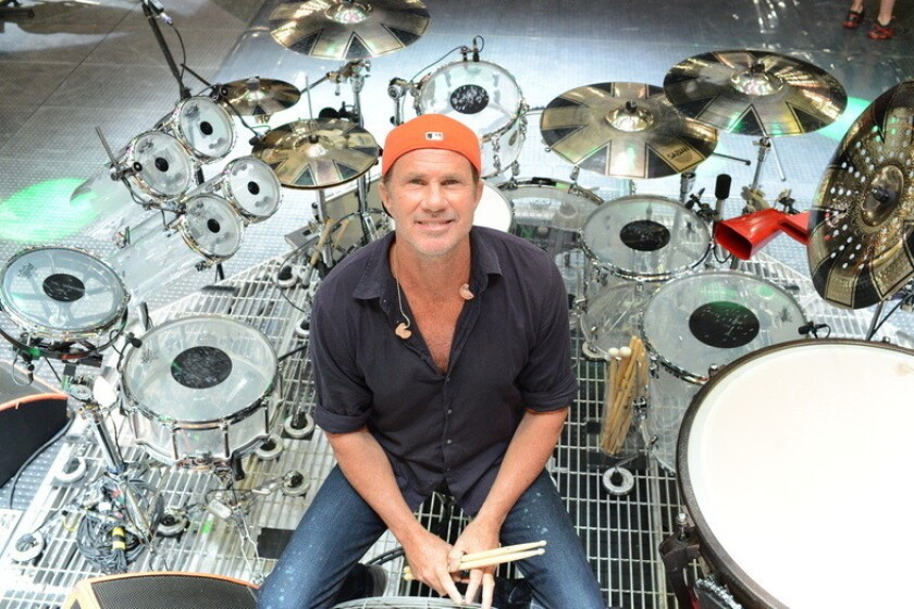 Red Hot Chili Peppers drummer Chad Smith will host an exhibit of his artwork in Solana Beach from Feb. 27 to March 1.