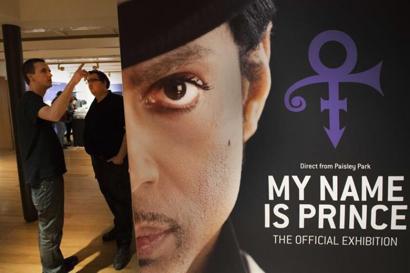 Staff of the museum Beurs van Berlage set up the first ever official exhibition about late US singer-songwriter Prince, titled 'My Name Is Prince', in Amsterdam, The Netherlands 05 March 2018. EFE/EPA/FILE