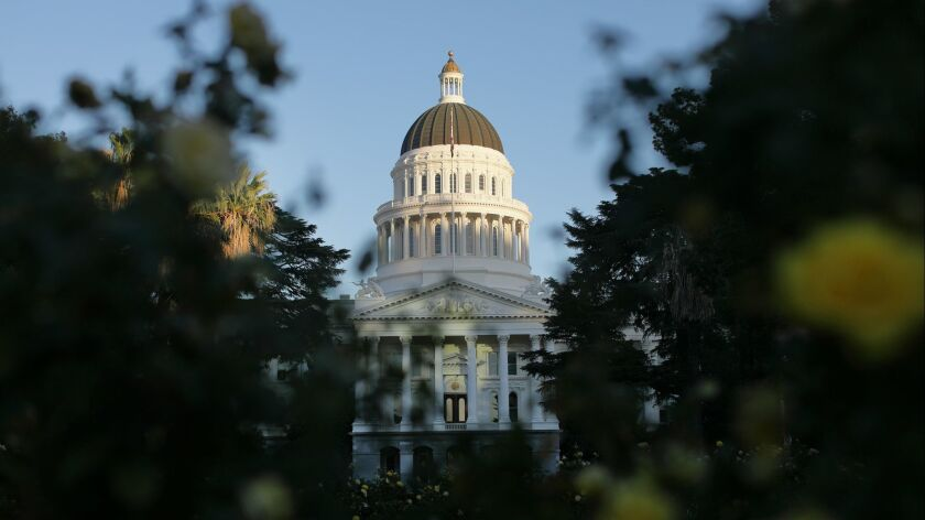 State Capitol Building in Sacramento.
