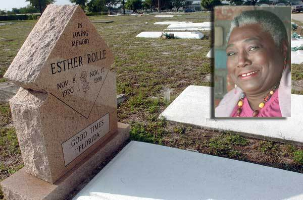 """Claim to fame: Black activist and actress best known as Florida in the '70s sitcom """"Good Times."""" Died Nov. 17, 1998, at age 78 of diabetes. Buried: Westview Community Cemetery, 428 NW 6th Ave., Pompano Beach."""