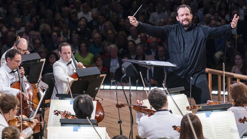 """Andris Nelson in """"Great Performances: Leonard Bernstein Centennial Celebration at Tanglewood"""" on PBS."""