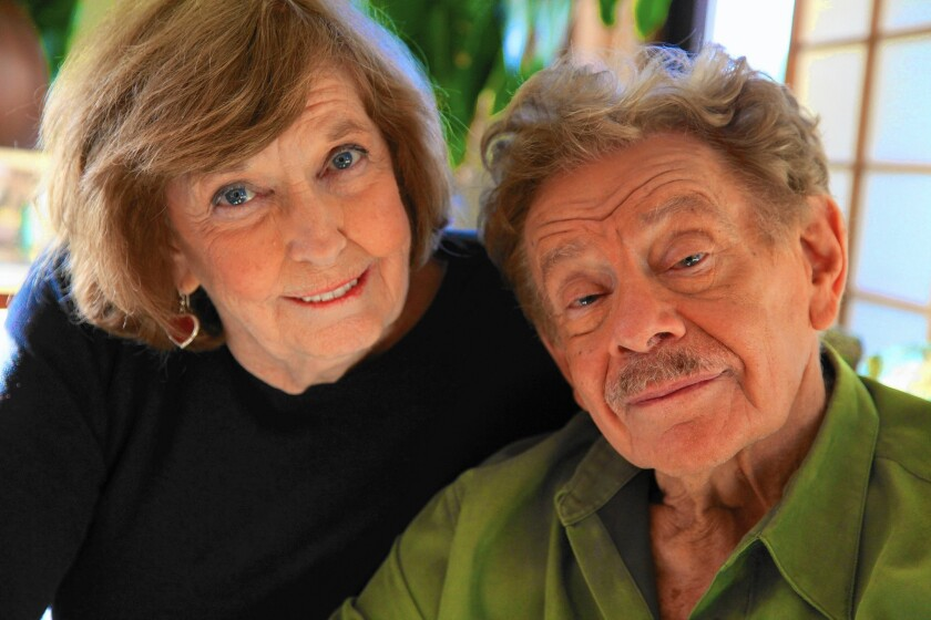 Anne Meara and Jerry Stiller in a photo taken by their son, Ben Stiller, who also became an actor. In their stand-up act, they used gentle ethnic humor to highlight the differences that drew them together.