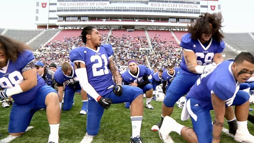 """In Football We Trust"" makes its California premiere at Pac-Arts' Spring Showcase. The documentary follows four young Polynesian NFL hopefuls using football as a way out of poverty and gang violence."