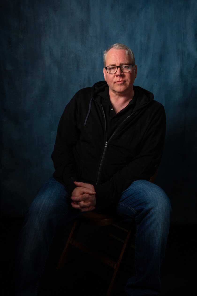LOS ANGELES, CA --APRIL 14, 2019 -- Author Bret Easton Ellis is photographed in the L.A. Times Festi
