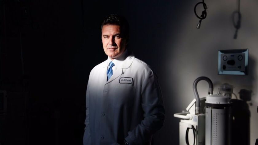 Dr. Neal ElAttrache is shown at the Kerlan-Jobe Clinic in Los Angeles in November 2013.