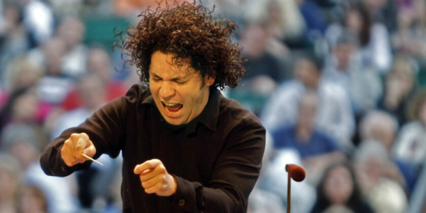 "CHARISMA: ""LA Phil Live"" supporters hope Gustavo Dudamel's vibrant relationship with musicians and audiences will draw people to movie theaters."