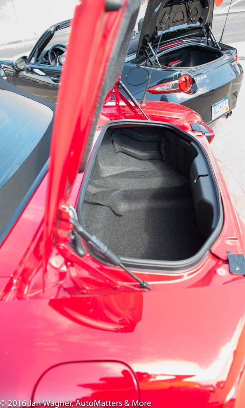 Larger trunk than Mazda MX-5