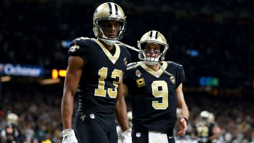premium selection 28da7 ec320 Drew Brees calls on Michael Thomas to make the big catches ...