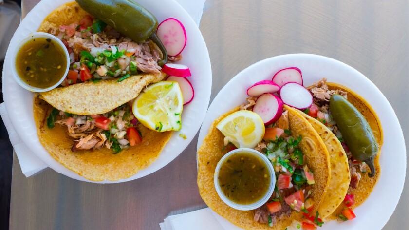 Tacos for lunch at Carnitas Loya.
