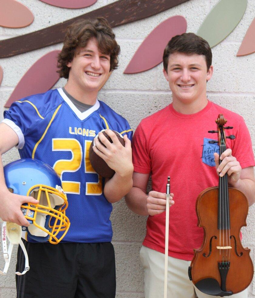 SDJA students Gabe Mayer and Sebastian Mayer.