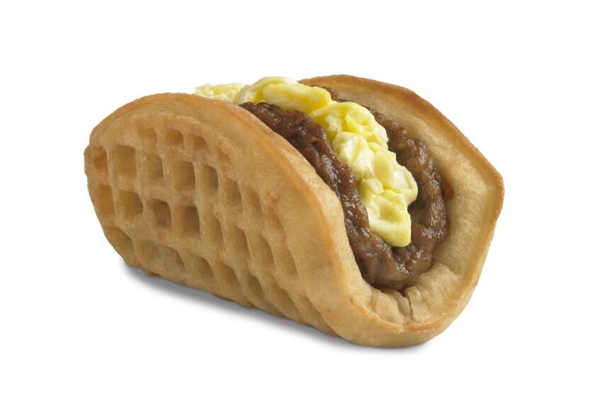 The Taco Bell waffle taco.
