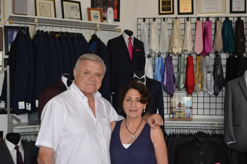 Jerry and Janet Klein operate A Better Deal Tuxedo & Suits, 369 Bird Rock Ave., La Jolla. (858) 551-6044, abetterdealtuxedo.com