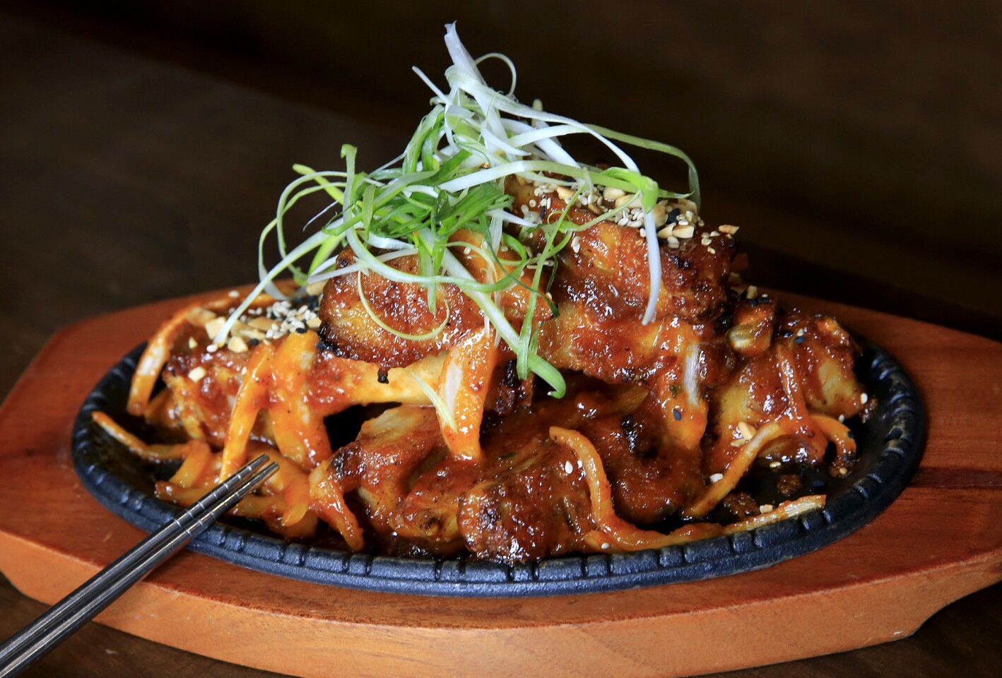 Tricked-out Korean barbecue is the idea at Hanjip in Culver City. Order dishes you don't see at other joints.