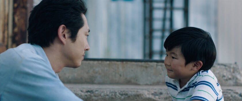 "Steven Yeun and Alan S. Kim in ""Minari"""