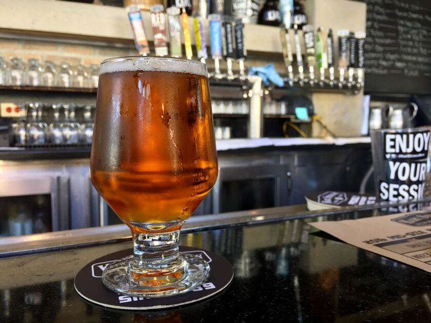This week's best undistributed brew is Cactus Sour from Karl Strauss Brewing Company, La Jolla. (Liz Bowen)
