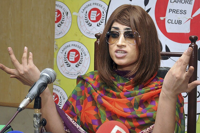 Qandeel Baloch, pictured during an interview on June 28, 2016, was found strangled in her home in July of that year.