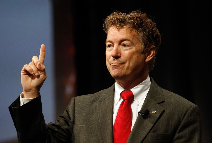 Sen. Rand Paul (R-Ky.) is being excoriated by some libertarians for his comments about Islamic State. His support for the U.S. pulverizing the would-be Middle Eastern caliphate has led to accusations that Paul has flip-flopped.
