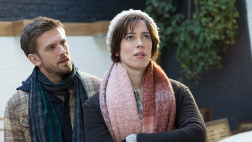 "(L-R) - Dan Stevens as 'Will' and Rebecca Hall as 'Anna' in a scene from the movie ""Permission."" Cre"