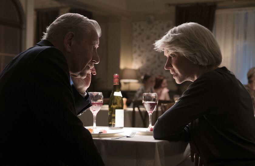 "Ian McKellen as Roy Courtnay and Helen Mirren as Betty McLeish in New Line Cinema's suspense thriller ""The Good Liar."""