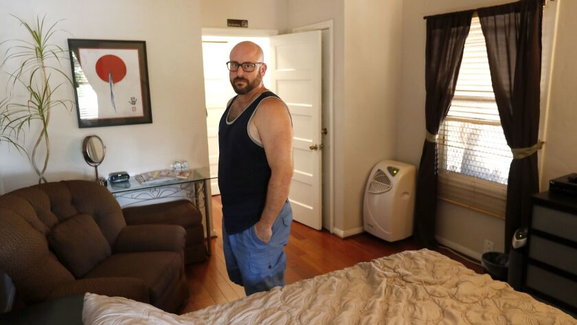 Marc Bochner, who lives in one of the apartments in the Westlake triplex that he owns, argues it would be unfair to ban him from hosting short-term rentals in his home just because his apartment falls under the Rent Stabilization Ordinance.