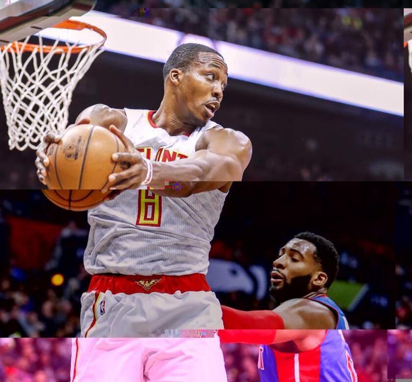 Dwight Howard (i) de los Hawks, durante un partido de la NBA el pasado sábado. EFE