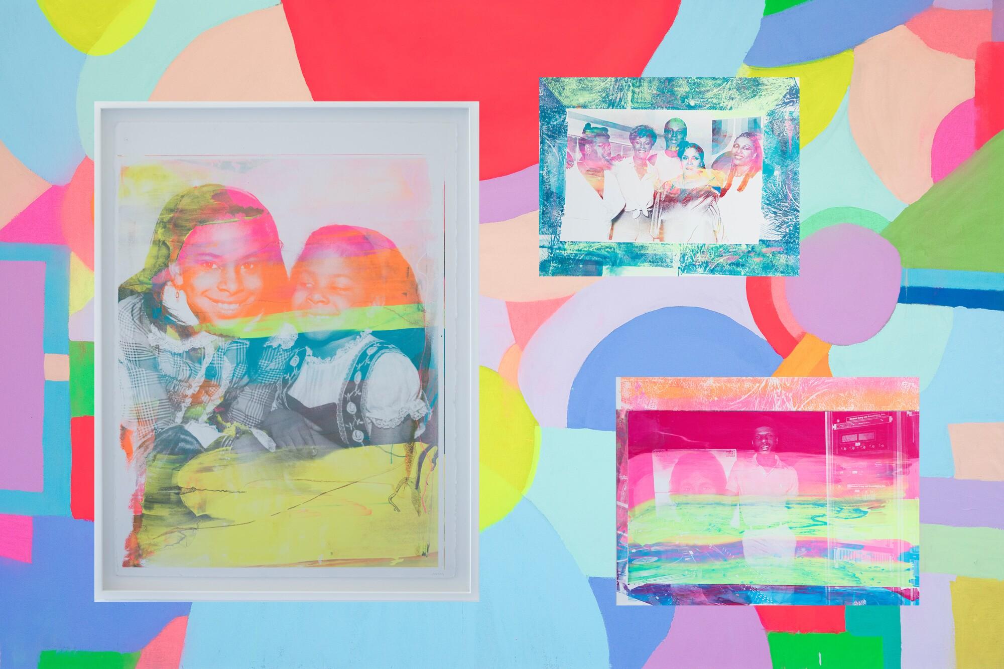 Three images of Adee Roberson's art.