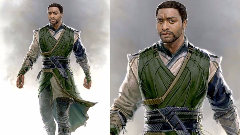 "Conceptual artwork for Mordo's costume in the film ""Doctor Strange."""