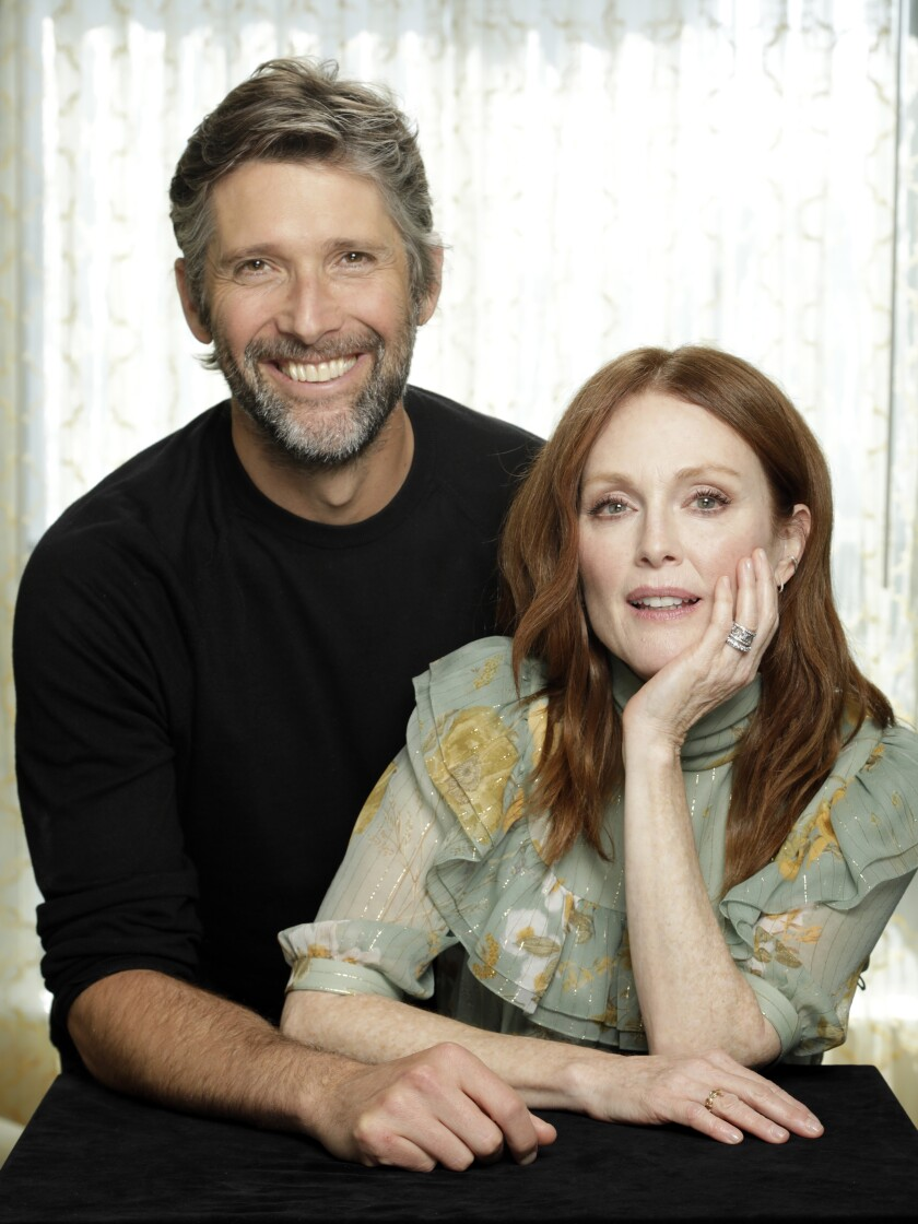 Writer-director Bart Freundlich and his producer-star-wife Julianne Moore. =
