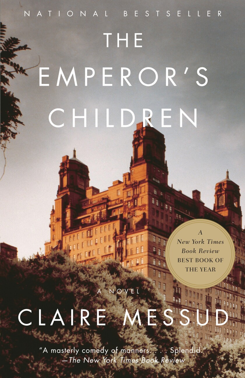 """Book jacket for """"The Emperor's Children"""" by Claire Messud."""