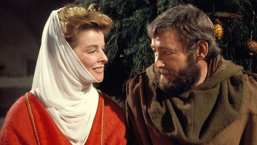 """Katharine Hepburn as Eleanor of Aquitaine and Peter O'Toole Henry II in """"The Lion in Winter."""" Credit"""