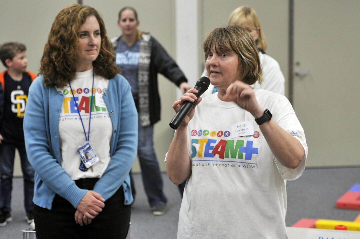 Science teacher Kathy Minarik, Librarian Heidi Eckstein