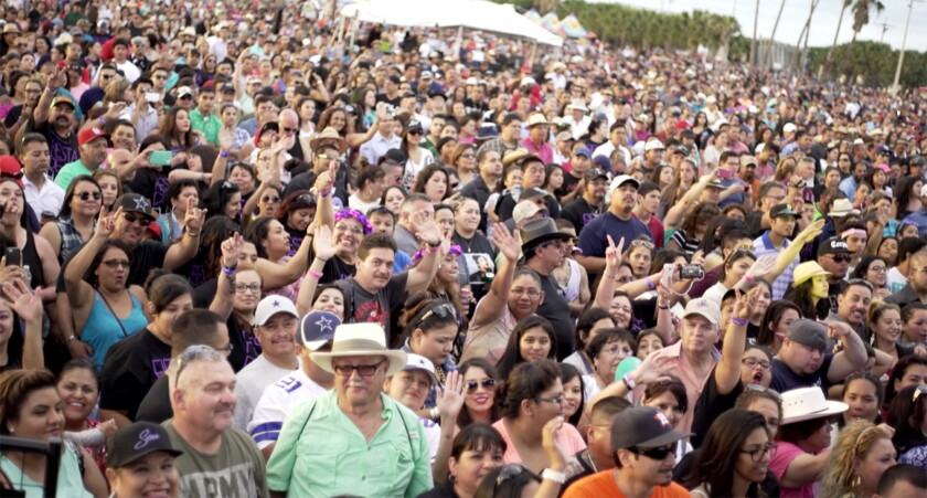 A crowd at Fiesta de la Flor in 2016, at an annual festival held in Corpus Christi, Tex., which cel