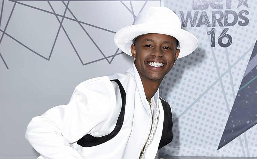 """Silento arrives at the BET Awards on June 26, 2016, in Los Angeles. The rapper, known for """"Watch Me (Whip/Nae Nae)"""" and whose legal name is Richard Lamar Hawk, was charged Thursday, Sept. 3, 2020, with trying to hit two people with a hatchet in their home. Hawk is charged with assault with a deadly weapon and is being held in jail on $105,000 jail, the Los Angeles County district attorney's office said. (Photo by Jordan Strauss/Invision/AP, File)"""