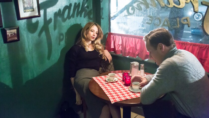 """Haley Bennett and Patrick Wilson in the movie """"A Kind of Murder."""""""