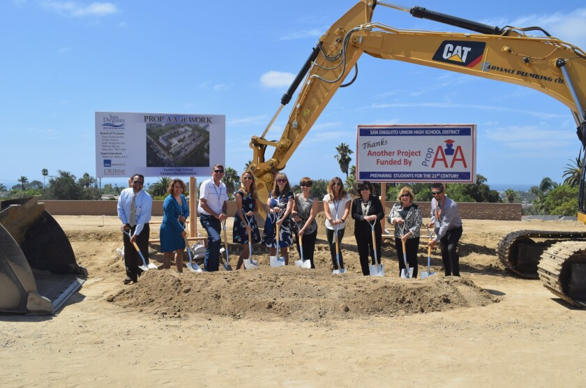 The San Dieguito Union High School District held a groundbreaking ceremony for the new Sunset campus on Sept. 9.
