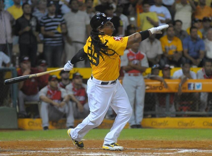 El bateador designado dominicano Manny Ramírez, de las Águilas Cibaeñas. EFE/Archivo