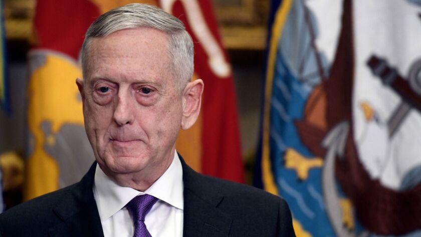 Defense Secretary James N. Mattis.