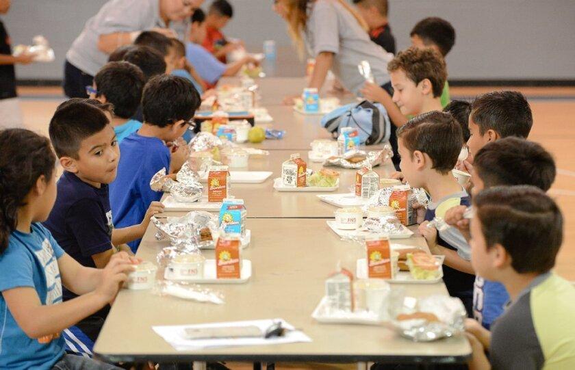 El menú de los niños y adolescentes incluye vegetales, frutas, leche, queso, yogurt y semillas.