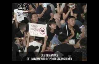 """Hong Kong cancela todos los vuelos, Beijing: manifestantes muestran """"signos de terrorismo"""""""
