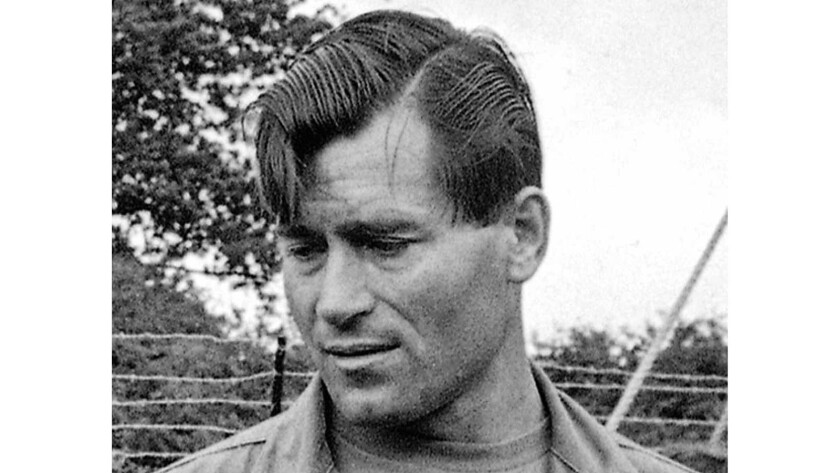 """Clint Walker appears on the set of """"The Dirty Dozen"""" in Morkyate, Bedfordshire, England, on Aug. 5, 1966. Walker died Monday of congestive heart failure at a hospital in Grass Valley, Calif. He was 91."""