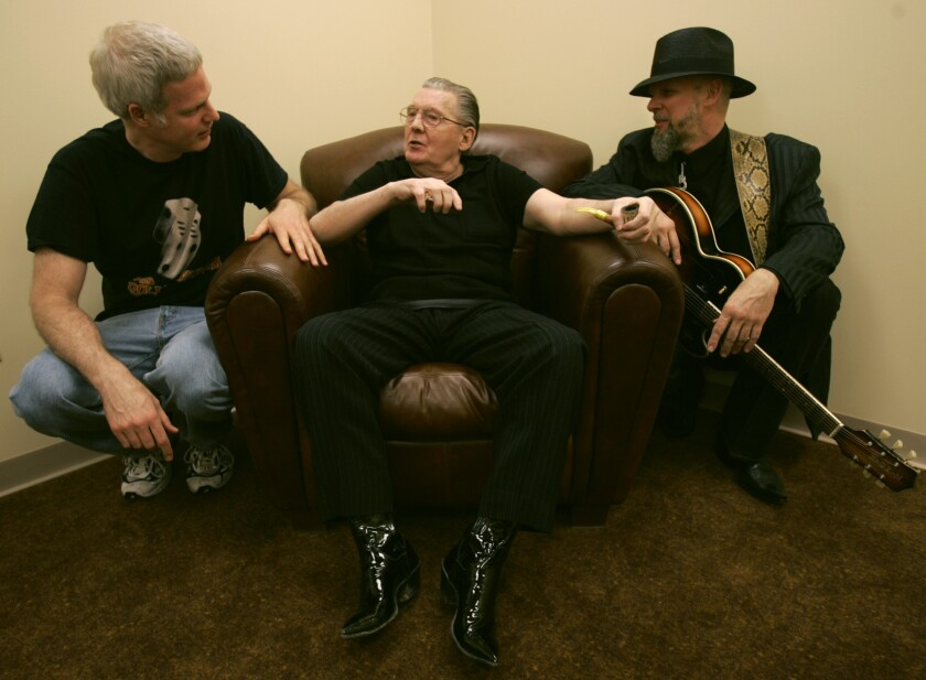 Jerry Lee Lewis joined by Steve Bing and Jimmy Rip in Lewis.