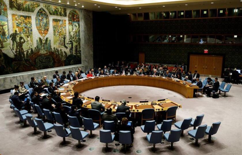 Vista del Consejo de Seguridad de Naciones Unidas, en la sede de la ONU en Nueva York, Estados Unidos. EFE/Archivo