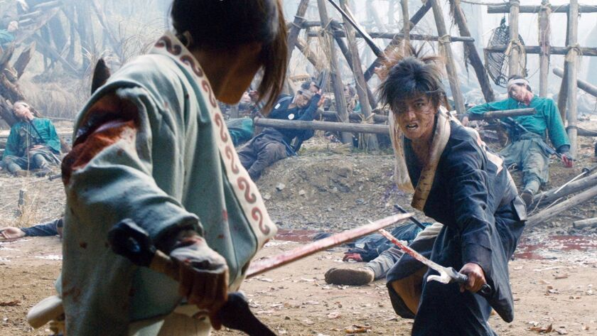 "A scene from the movie ""Blade of the Immortal."""