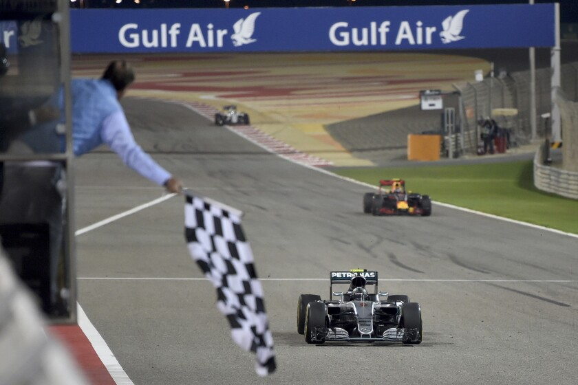 Formula One: Nico Rosberg wins Bahrain Grand Prix