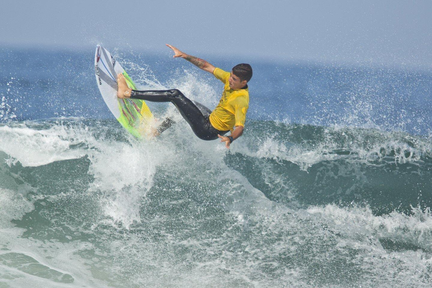Surfers compete at the 2018 Switchfoot Bro-Am